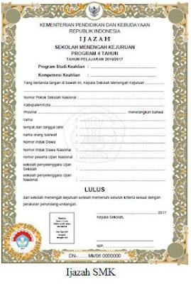 Download Blangko Ijazah Plus SHUN Terbaru 2017