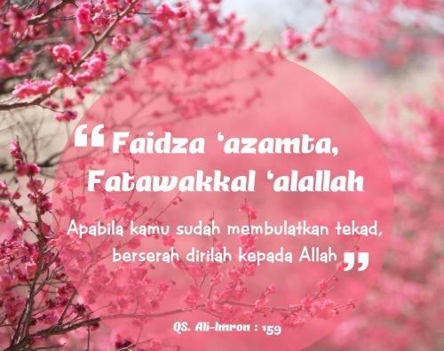 Faidza 'Azamta Fatawakkal 'Alallah