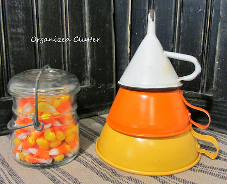 Funnels Repurposed as Candy Corn