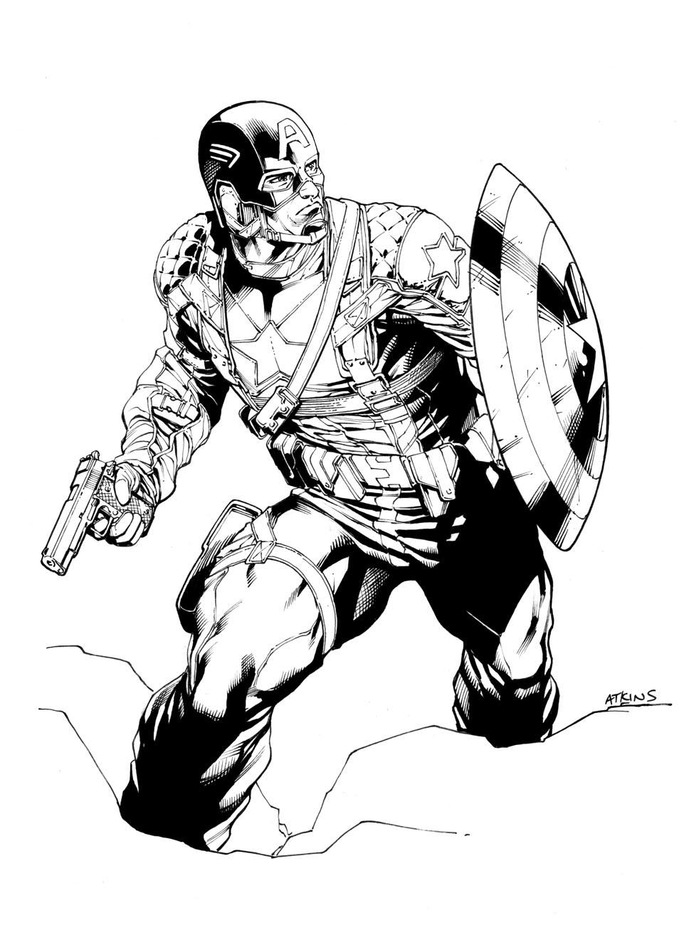Robert Atkins Art: Avengers April Captain America...