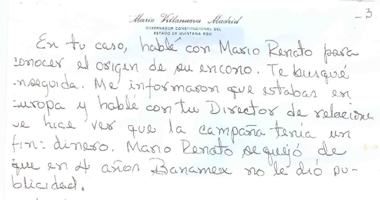 ME EXTORSIONO EL PERIÓDICO POR ESTO. MARIO VILLANUEVA | Las Mangas ...