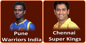 आइपीएल 6 का बयालीसवां मैच पुणे वरिवर्स इंडिया और चेन्नई सुपर किंग्स के बीच होना है।