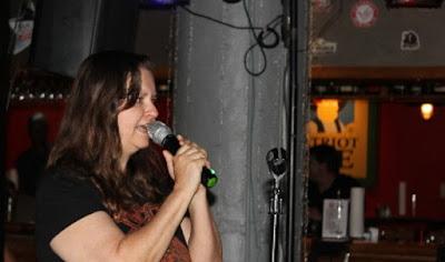 me singing at karaoke