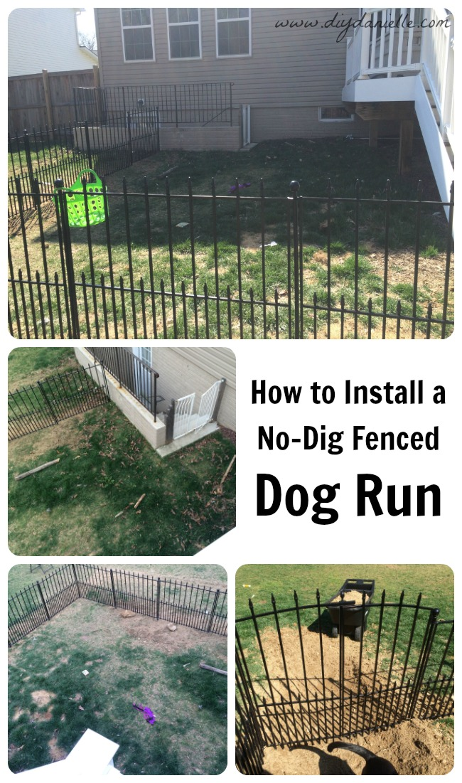 How to install an easy no dig fenced dog run in one day for Building a dog kennel business