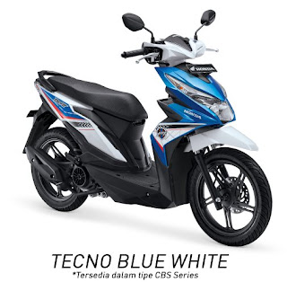 Honda BeAT eSP CBS (Techno Blue White)