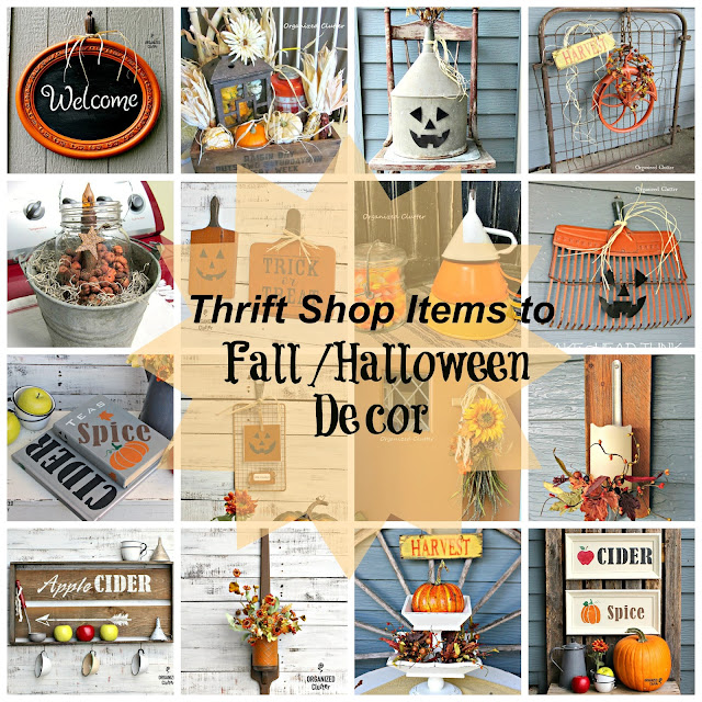 Inexpensive Fall/Autumn/Halloween Decorating & Project Ideas with Junk