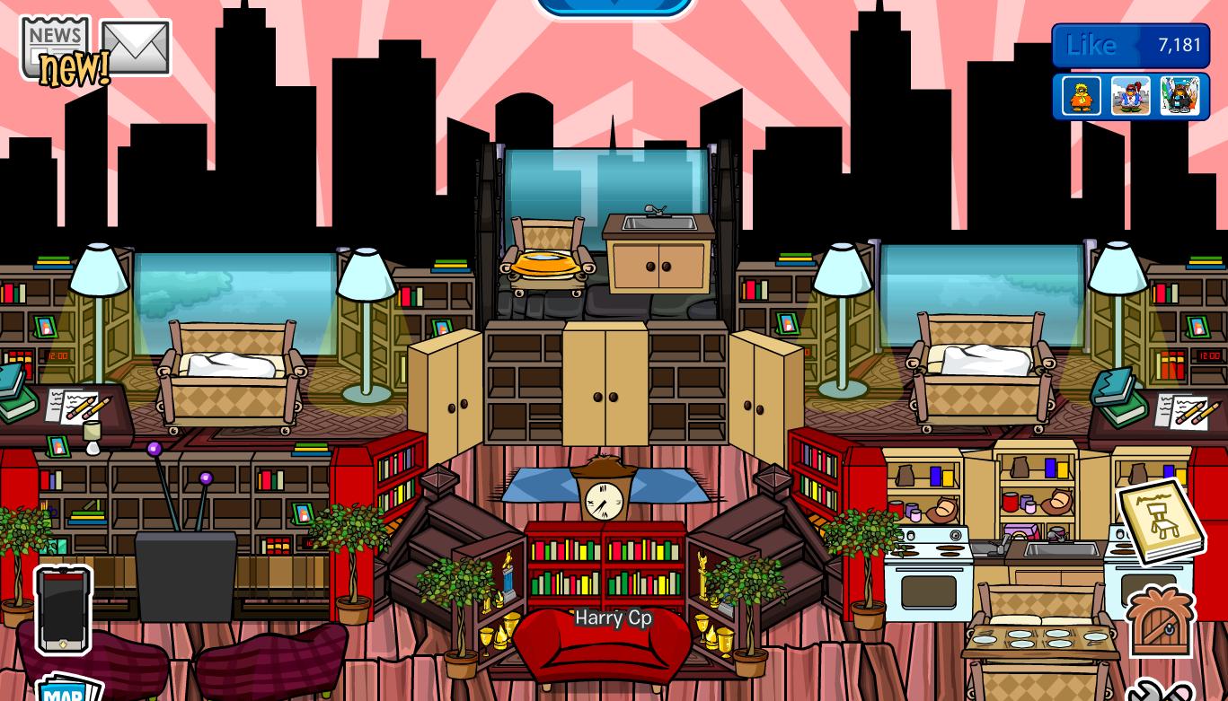 Club Penguin Igloo Ideas: House Igloos