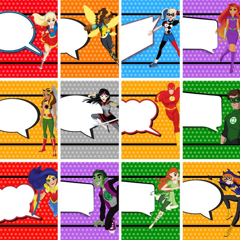 It is a photo of Exhilarating Superheroes Printables Free