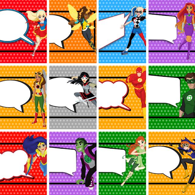 Free Printable or Edit in Canva Superhero Tags