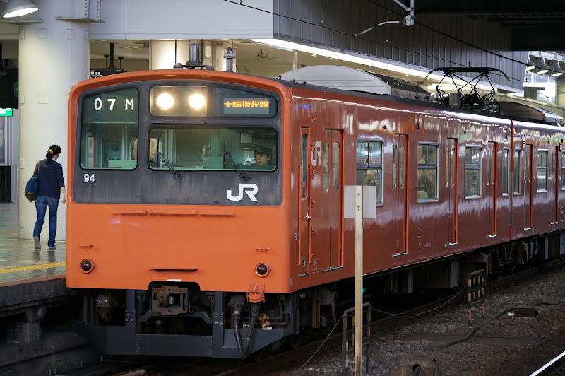 大阪環状線大阪駅停車中の201系