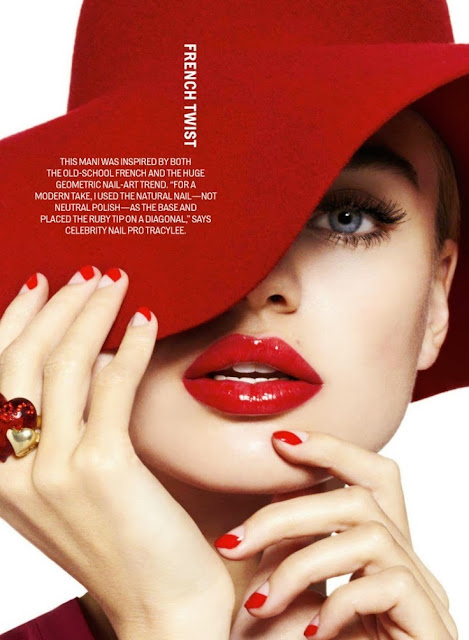 Red make-up | Milou Sluis for Cosmopolitan U.S. 02 2013