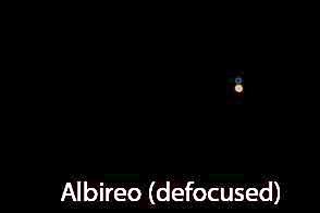 Defocus your scope to get good color rendition of Albireo