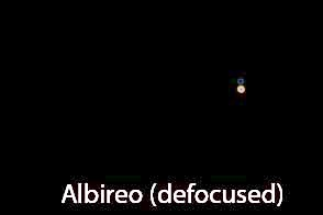 Defocus your scope to get good color rendition of Albireo (Source: Palmia Observatory)