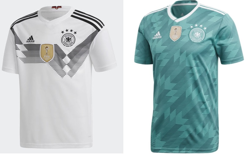 Adidas has yet again produced absolute stunning Home   Away jerseys from  defending champions Germany. The home kit comes in white colour with unique  graphic ... dad126bca