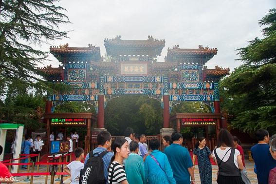 Entrada Templo Lamas en Pekin. Primer dia en China