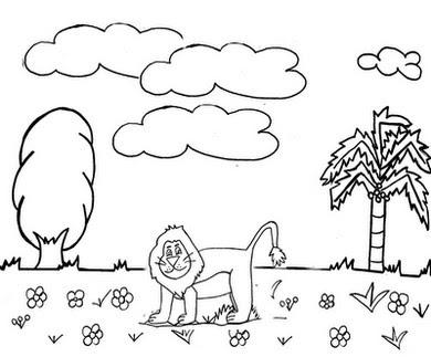 desenhos dia da natureza para imprimir e colorir mundinho da criança