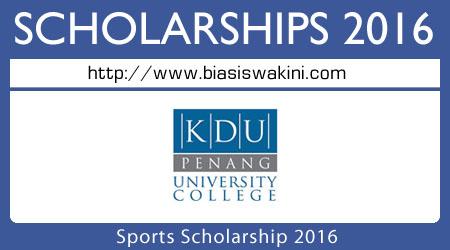 Sports Scholarship 2016