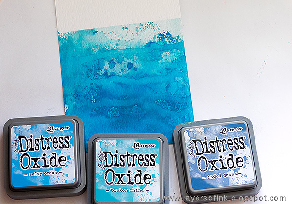 Layers of ink - Distress Oxide Layers Tutorial by Anna-Karin with Tim Holtz Ranger Distress Oxides