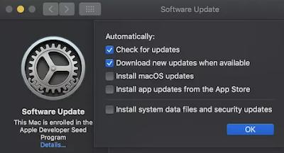 كيفية التحقق من تحديثات النظام في macOS Mojave