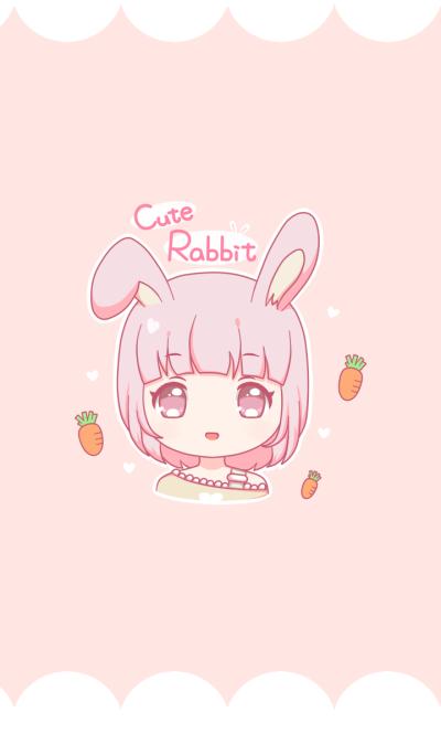 Cute Pink Rabbit