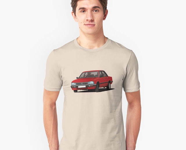 Red Peugeot 505 Turbo - car T-shirts