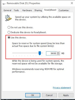 Increase RAM Using USB/Pendrive In Windows 7, 8 & 10