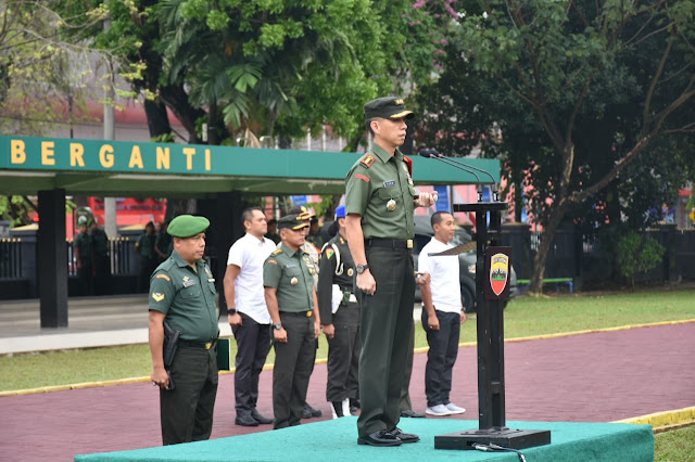 Komandan Kodim 0201/BS Pimpin Gelar Pasukan Pengamanan Presiden