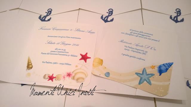 li2 Le partecipazioni pocket tema mare di Liliana e FrancescoColore Bianco Colore Blu Partecipazioni Pocket Tema mare