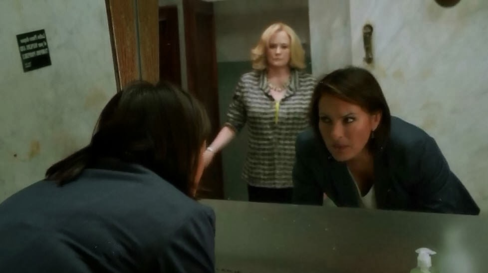 Later, Benson Is In The Ladies Room Splashing Water On Her Face When Jolene  Enters And Jolene Comments That This Is Awkward. Benson Says She Will Get  Out Of ...