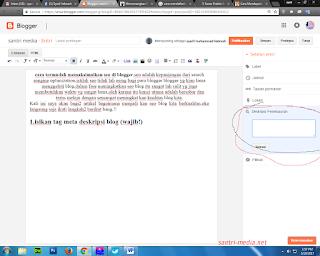 wajib mengisi meta tag deskripsi yg berada di samping ini