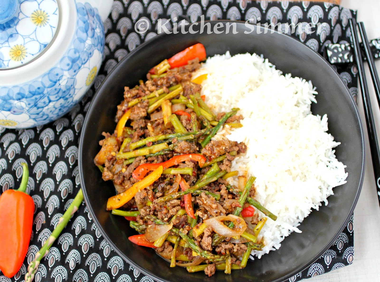Mince Beef And Asparagus Stir Fry Is A Wonderful Way To Use Up Some Of The Asparagus That Is In Bounty At This Time Of The Year