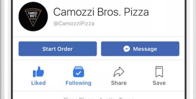 فيس بوك تتيح طلب الطعام عبر تطبيقها أو موقعها
