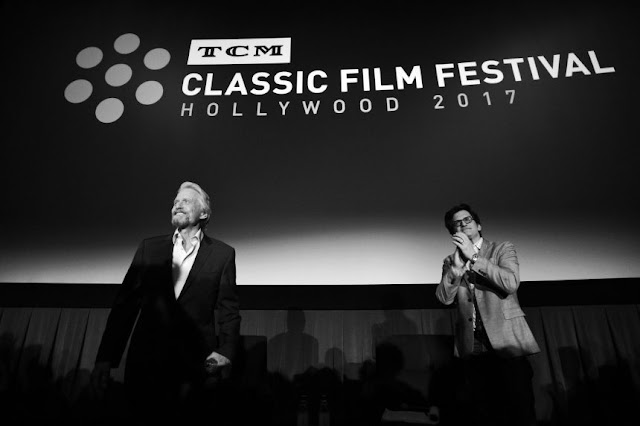 Michael Douglas and Ben Mankiewicz at the 2017 TCM Classic Film Festival