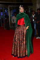 Manchu Lakshmi in a Strange Green Saree at 64th Jio Filmfare Awards South ~  Exclusive 008.JPG