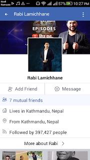 Rabi Lamichhane  facebook contact