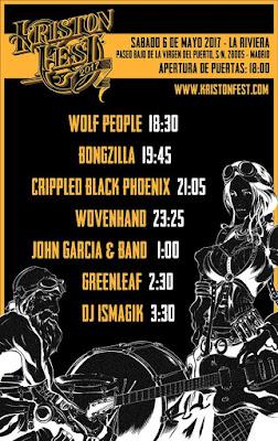 Kristonfest, 2017, Festival, Madrid, cartel, rock, metal, horarios