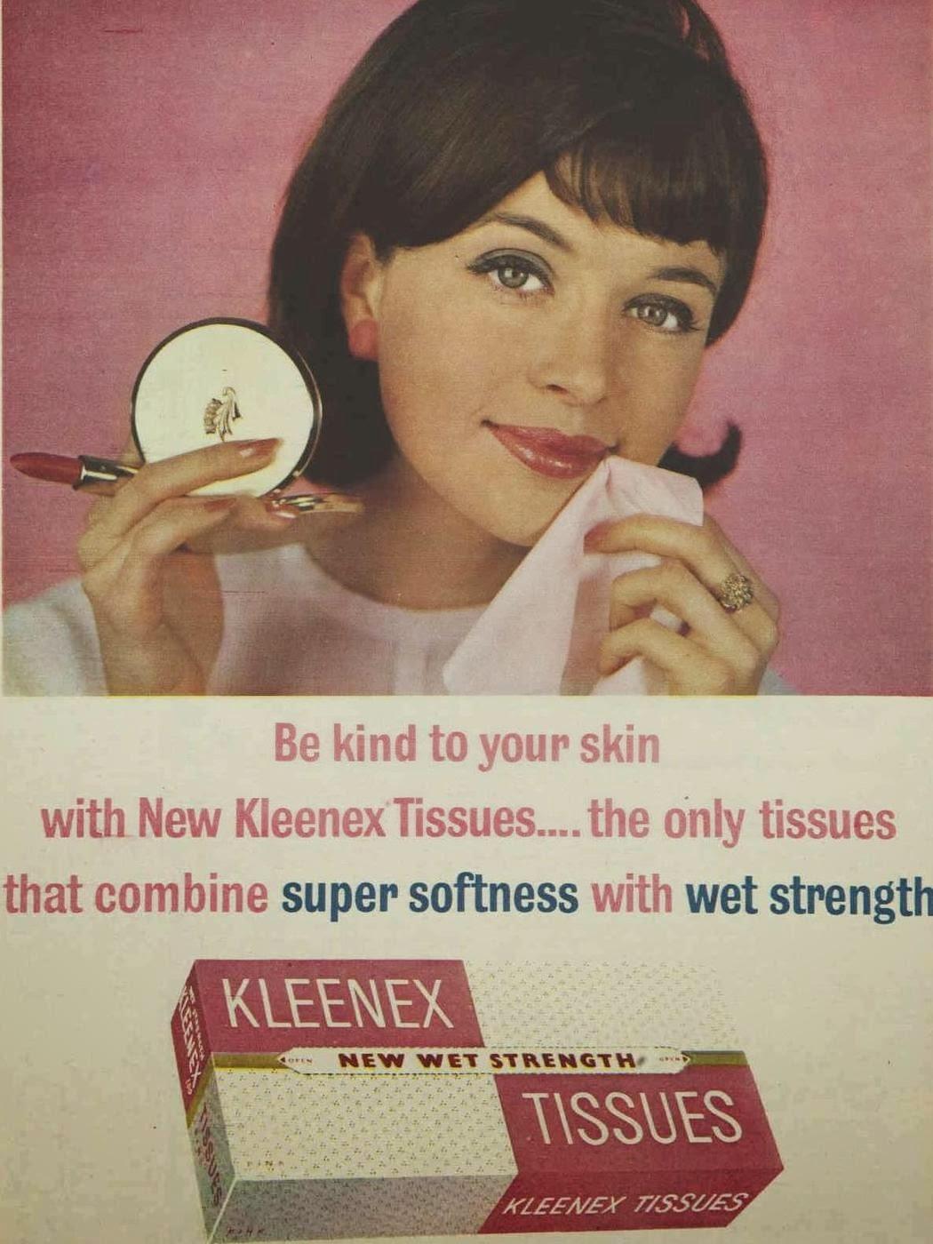 vintage kleenex ad, 1960s