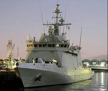 Photo of Spanish warship