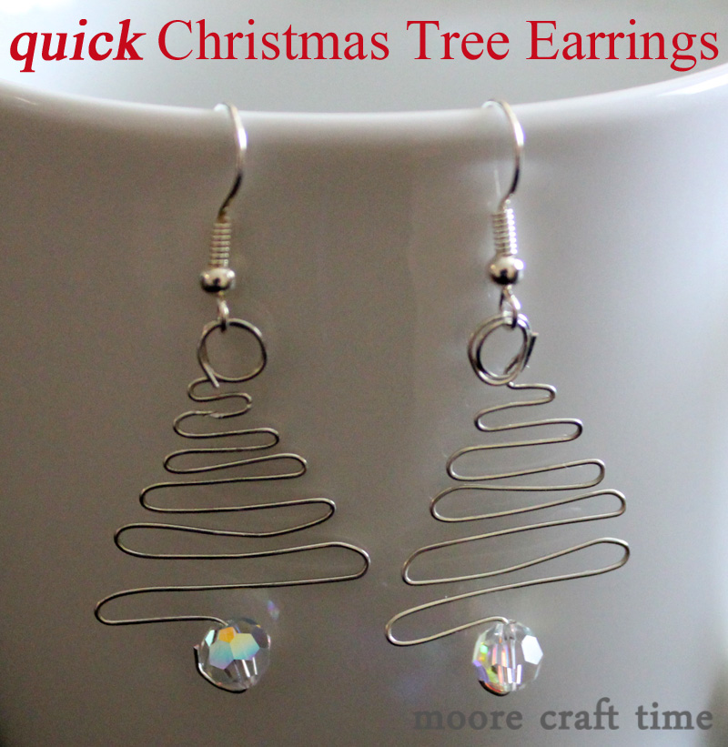 Quick Christmas Tree Earrings