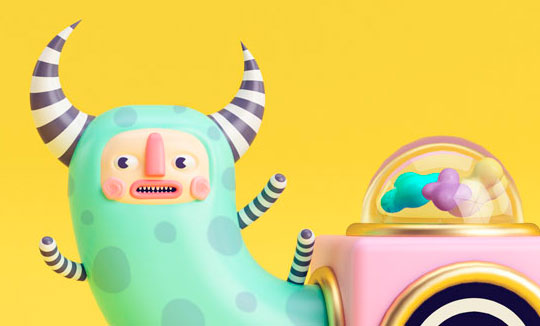 Ilustración, Paco y la máquina de Zallary Cardona aka Zay