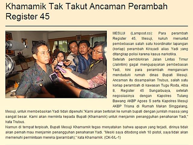 REGISTER 45: Maling Kakap vs Maling Teri?