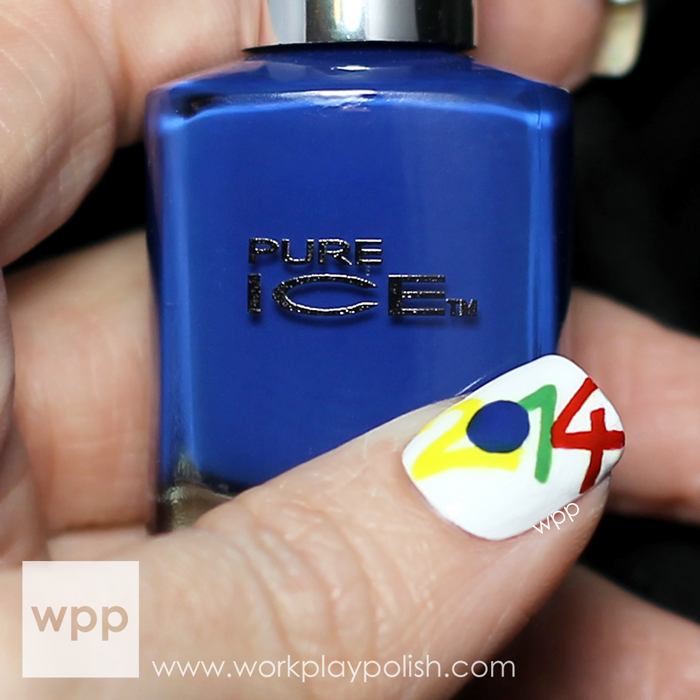 Pure Ice World Cup 2014 Brazil Nail Art #colorkick