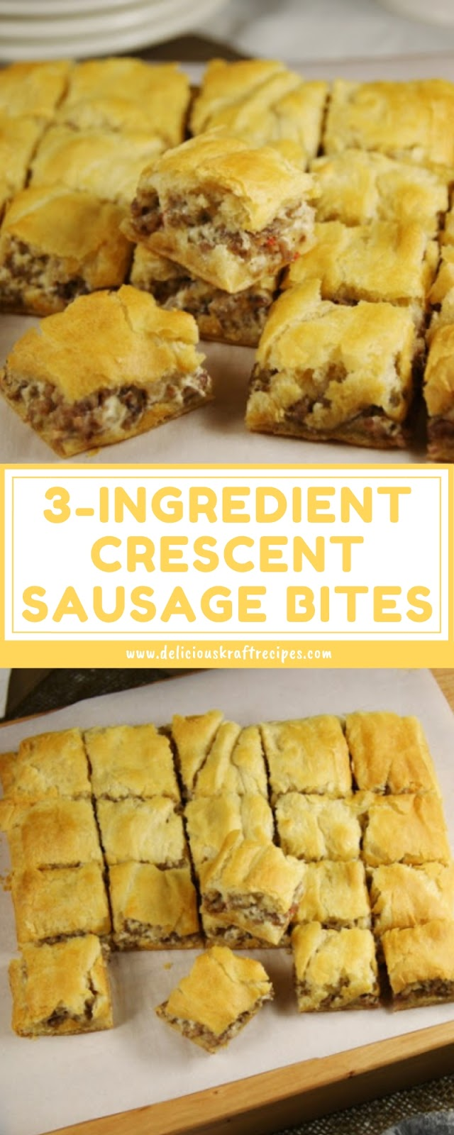 3-INGREDIENT CRESCENT SAUSAGE BITES