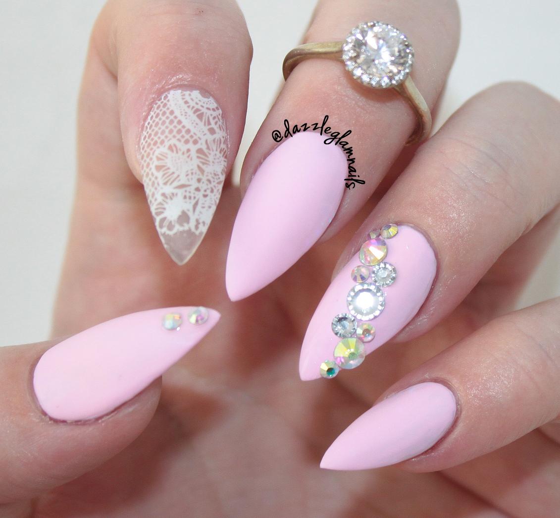 Dazzle Glam Nails   Nail Art Blog: Matte Pink Lace Nails