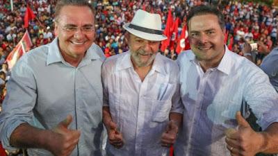 Petistas se incomodam com encontros de Lula, Renan e Renata Campos