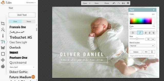 Tips & Tricks for Making Your Own Birth Announcement