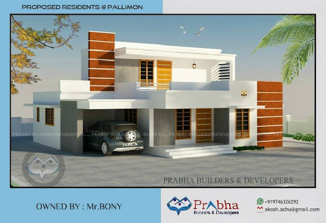 3 bedroom low cost kerala house plans and elevations