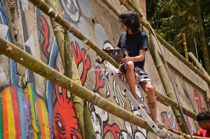 Tamawan Village Making of a Graffitti Mural Baguio City Philippines 62
