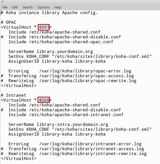 Koha Geek: How to change default port number of Koha