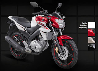 Yamaha New Vixion White Reddish Lightning